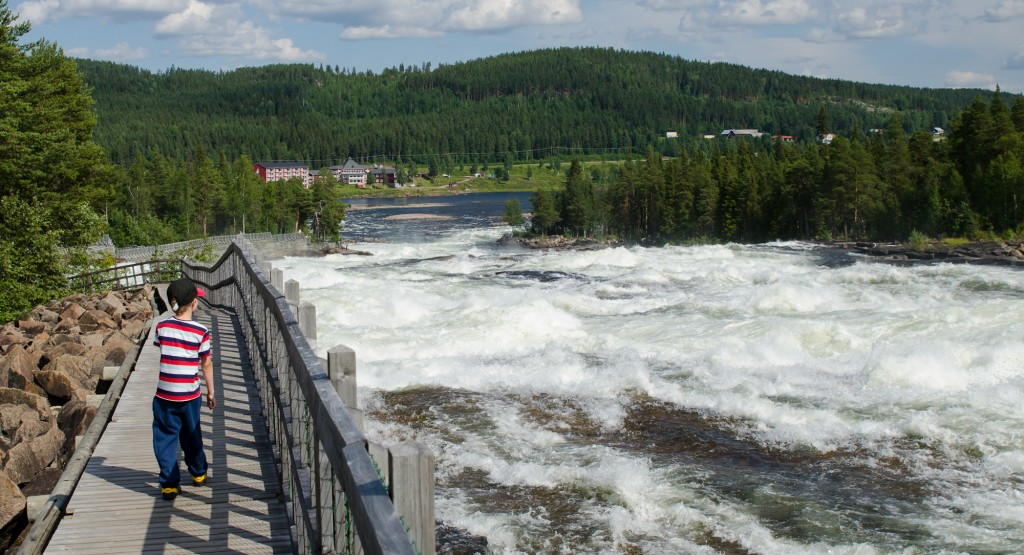 Storforsen, en vacker naturupplevelse.