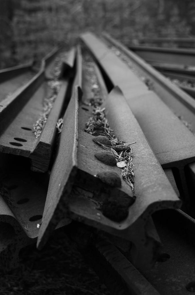 Gammal järnvägsräls