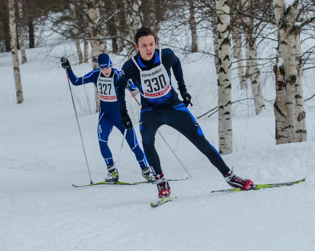 Johan Stridsman i full karriär. Sävast Skiteam, Sävastspelen 2014.