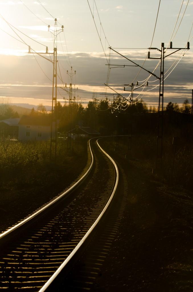 Järnvägsspår Gamla Sävast