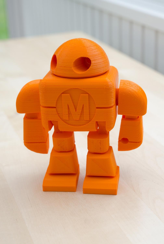 Robot tillverkad i 3-d skrivare
