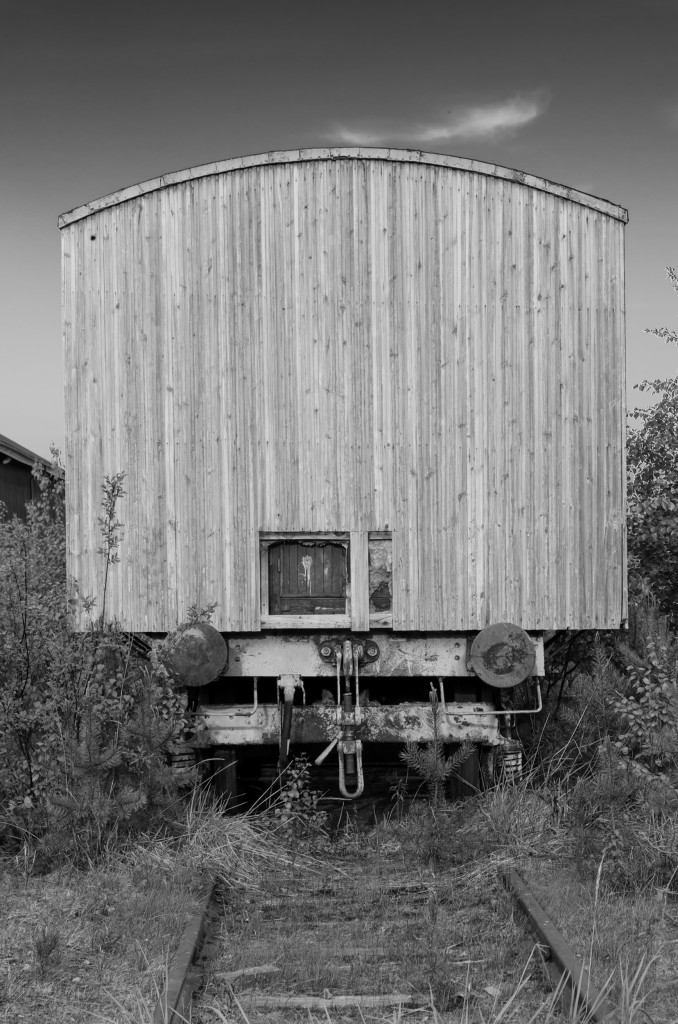 Järnvägsvagn vid Tyskmagasinen Luleå.