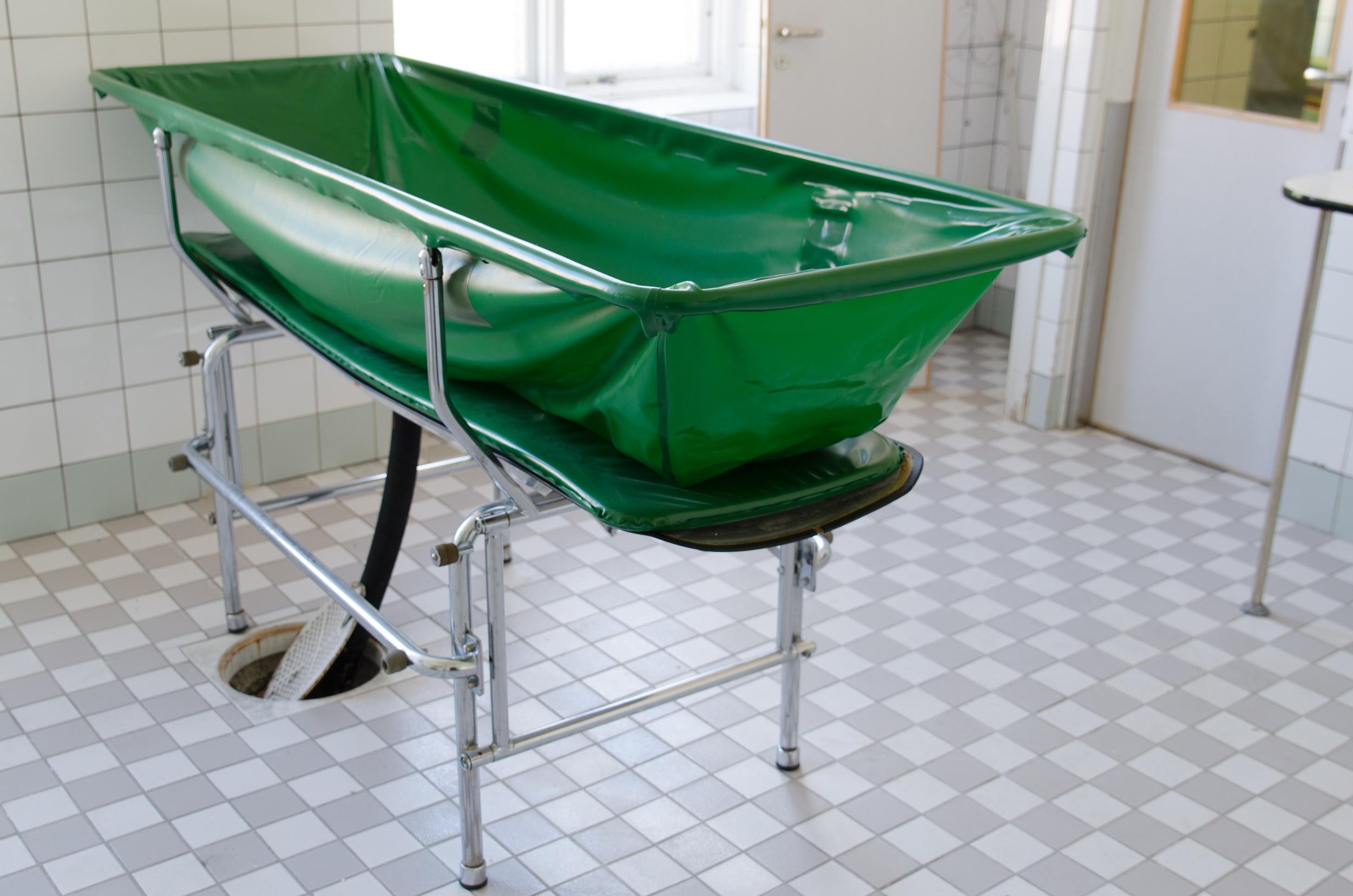 Sandträsk sanatorium. Tvättrum.