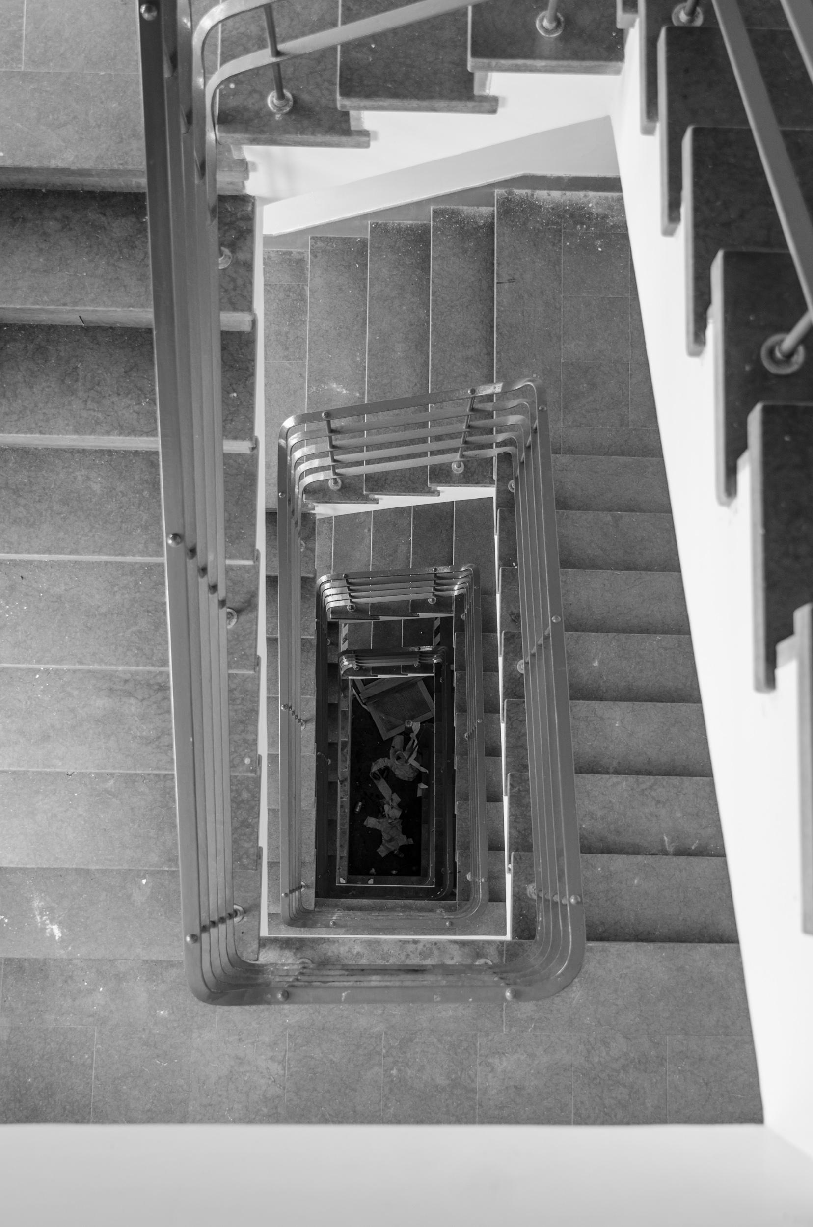 Sandträsk sanatorium. Trapphuset.