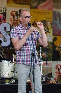 Hamnfestivalen i Luleå invigdes av Niklas Nordström.