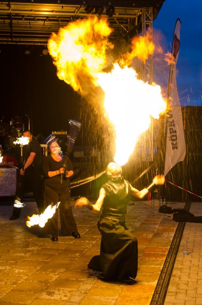 Eldshow på Kulturnatta i Boden 2014