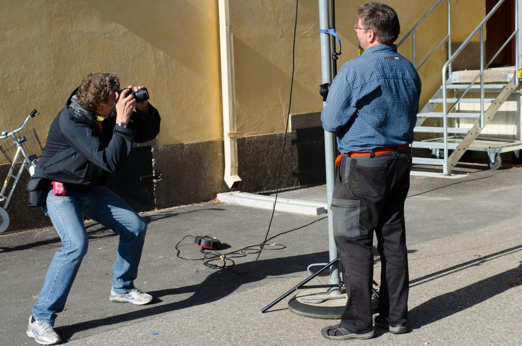 Sen hittade jag en fotograf som fotograferade en fotograf, intressant...