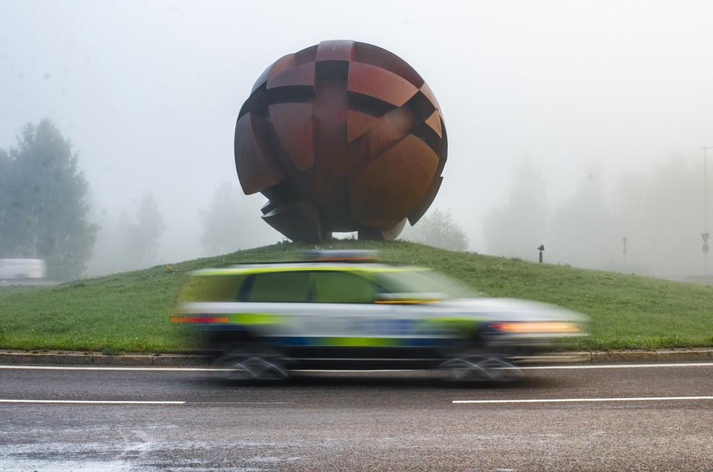 Rostbollen i Luleå, inte snygg men ganska läcker. Men snälla polisen, inte fler än tre varv i rondellen!