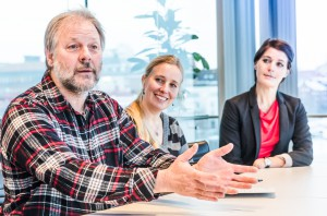 Tim, Birgitta och Ulrika Billström.