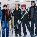 Här är ena skiftlaget som bygger Ice Music i Luleå: Magnus Nilsson, Johan Blank, Daniel Micholson, Anton Backe, Brooke Erdman och Mark Szulgit.