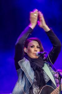Jill Johnson på Hamnfestivalen i Luleå.