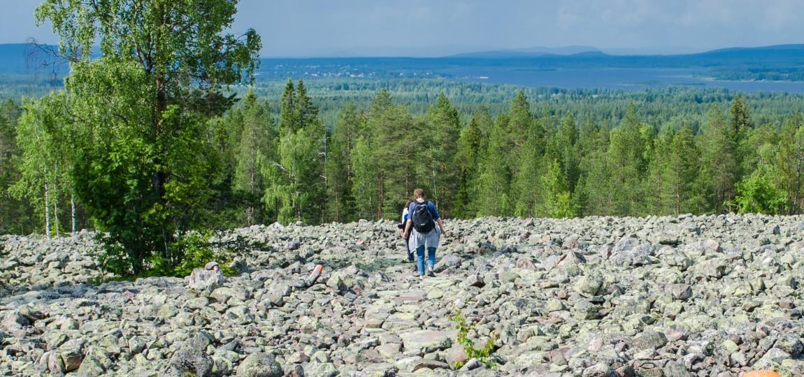 Promenad på Bälingeberget
