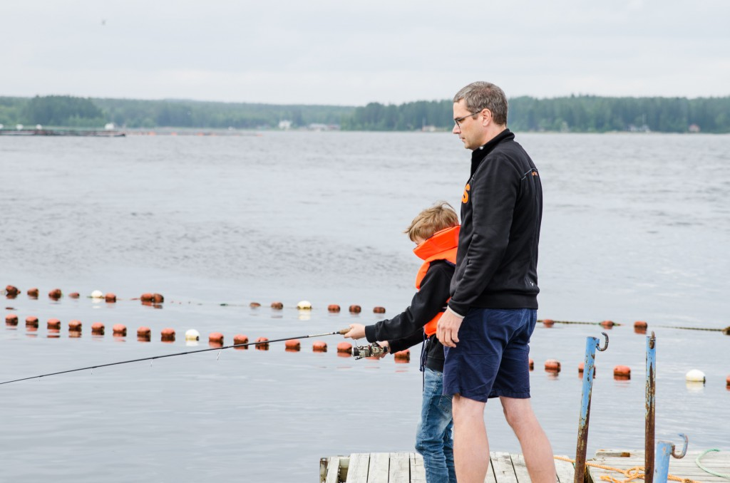 Fiske vid Jävre fiskecamp.