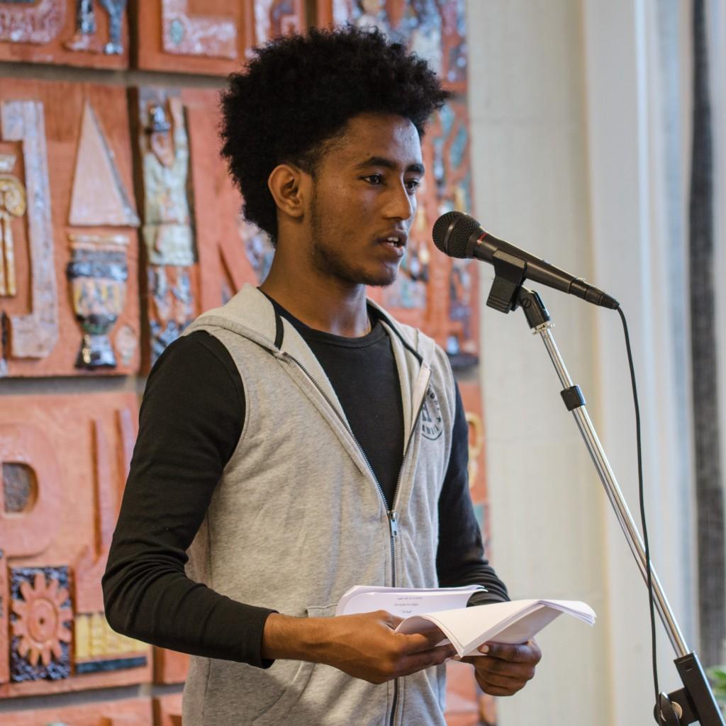 Afrikans poesi på biblioteket i Boden under Kulturnatta.