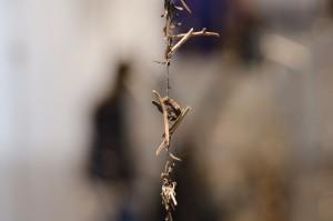Installation av Birgitta Linhart vid Bok och bild i Luleå 2015.
