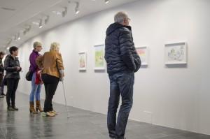 Många besökare uppskattade Carina Kågströms träffsäkra teckningar!