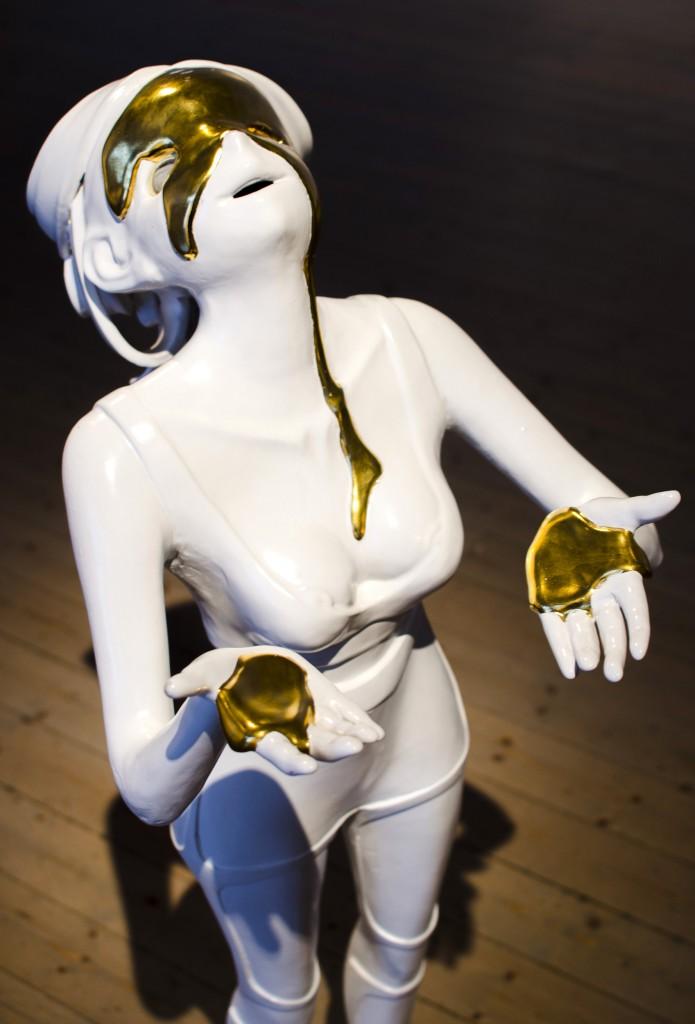Kan vara Helene Hortlund som gjort denna, lite läskiga figur. Vet ej varför jag tyckte den var läskig, men det var den!