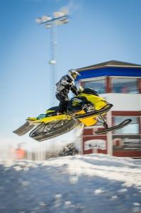 102 Martin Mjelde Muller Hammerfest Racingclubb.  Ski-Doo. Final i Skotercross i Boden 2016