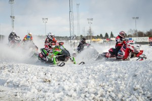 11 Max Lemnert Östersunds SSK. Polaris. Final i Skotercross i Boden 2016