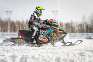 87 Linn Sjöberg Jakobstad Motorklubb. Lynx. Final i Skotercross i Boden 2016