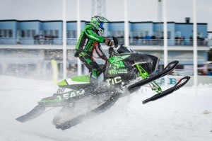 60 David Reponen Storumans SK  Team Yngvesson Arctic Cat. Final i Skotercross i Boden 2016
