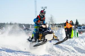 41 Ludwig Wiklund Arjeplogs SSF. Lynx. Final i Skotercross i Boden 2016