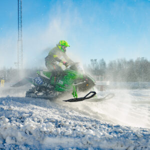 211 Daniel Johansson Skellefteå MS. Arctic Cat. Final i Skotercross i Boden 2016