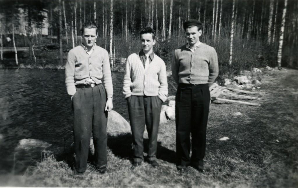 Tre killar som var inlagda på sanatoriet.