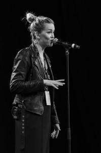 Ana Diaz på Kulturens hus i Luleå under P3 älskar.
