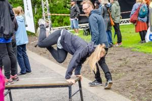 Luleå Pride 2016. En del passade på att träna, vissa graciösa, vissa inte lika...