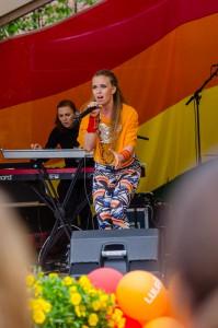 Luleå Pride 2016. Sofia Jannok, mycket bra!