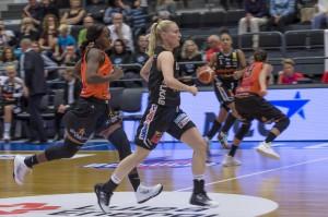 Elin Lomgren. Luleå Basket vs Udominate.