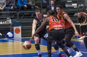 Anna Barthols fightingface. Luleå Basket vs Udominate.