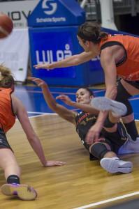 Katie Bussey. Luleå Basket vs Udominate.