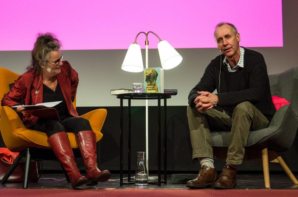 Håkan Nesser på Eyvind2016s scen.