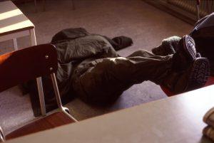 Och vila... Filmsalen högst under taket var poppis att sova i.