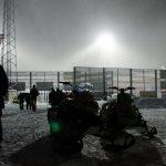 Mycket pyssel bakom stadion. Boden Arena Super-X 2017.