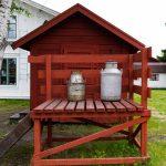Medeltidsdagarna på Hägnan i Gammelstad. Man får inte glömma mjölkhämtarna, även om det är medeltid.