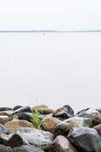 Semester 2017, Uleåborg (Oulo). Jo, det är en liten båt därute, det är inte skräp på skärmen...