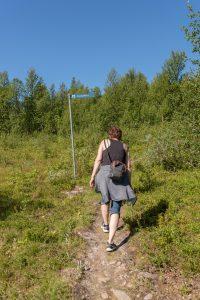 På väg upp ftill Kanahobben i Tärnaby. Tung klättring men underbar utsikt!