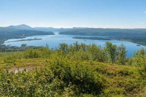 Underbar utsikt från Kanahobben i Tärnaby!