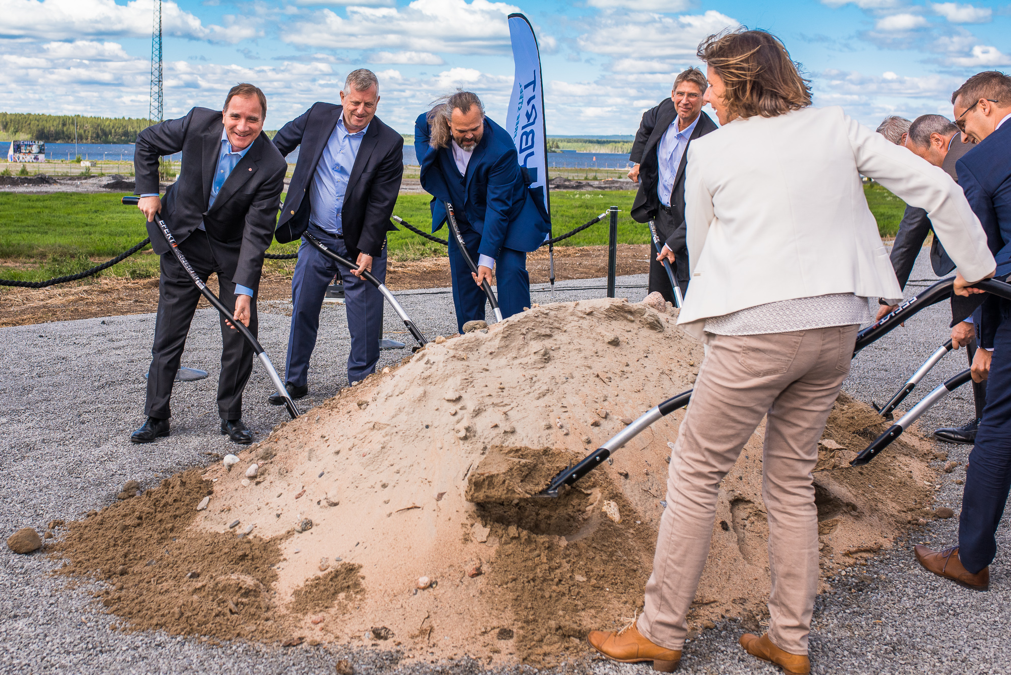 Invigning av Hybrit på SSAB i Luleå