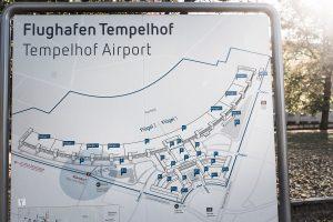 Karta över Tempelhofs flygplats, maffigt!