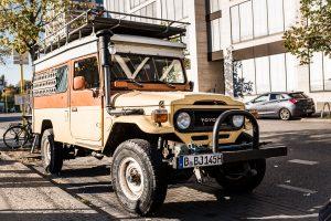 Inte bara feta BMW:s och Mercedes i Berlin, även äventyrliga Toyotor.