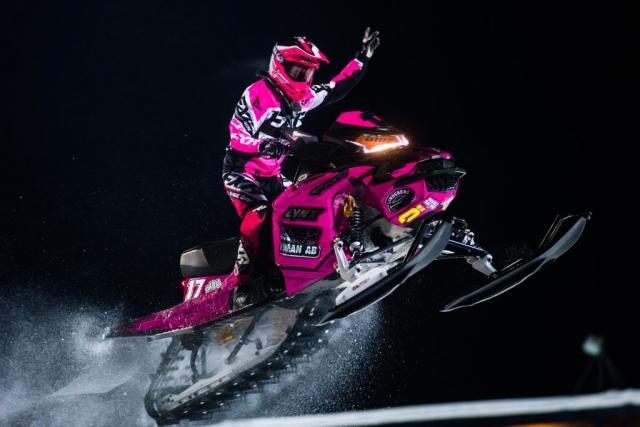 Världsmästaren Elina Öhman, Tväråns IF tävlade i Boden.