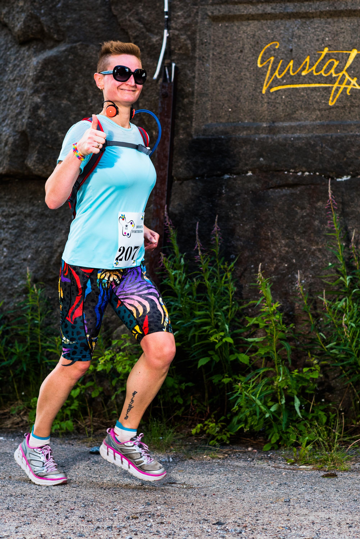 Boden Fortress 2018 lockade många deltagare, trots fem mils löpning i konstant kuperad terräng. Men ett bra tillfälle att testa Godox AD200 med HSS! Här uppe på Åbergsfortet.