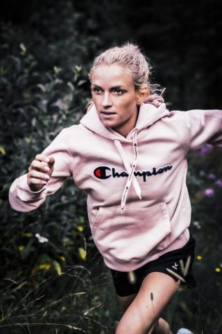 Löparen Elisabet Clausén, för Shopping och Stadium.