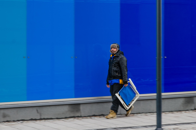 Blått, bara blått. Luleå.