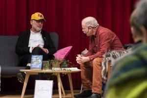 Andreas Hoffsten pratar med Bernt Hermele under Eyvind2018.