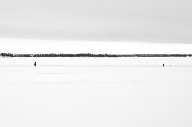 Ensamt. Isvägen, Luleå.